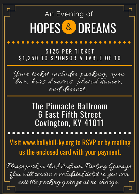 An Evening of Hopes and Dreams Info